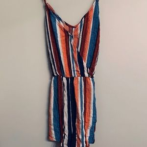 Colorful Striped Romper | Lulus